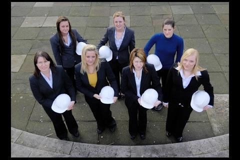 Jennifer Largue, Louise Largue, Gisele Partridge, Joanne Blakemore, Hayley Herrity, Sara Mitchell and Michelle McCrudden